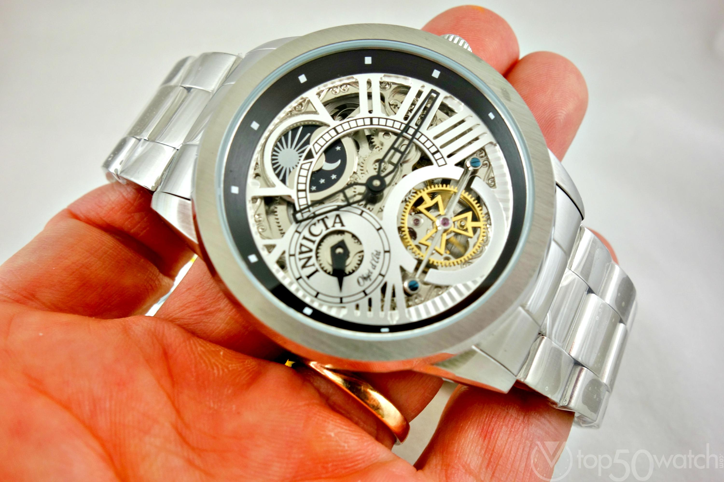 Invicta 25263 Objet D Art Automatic Skeleton Dial Watch
