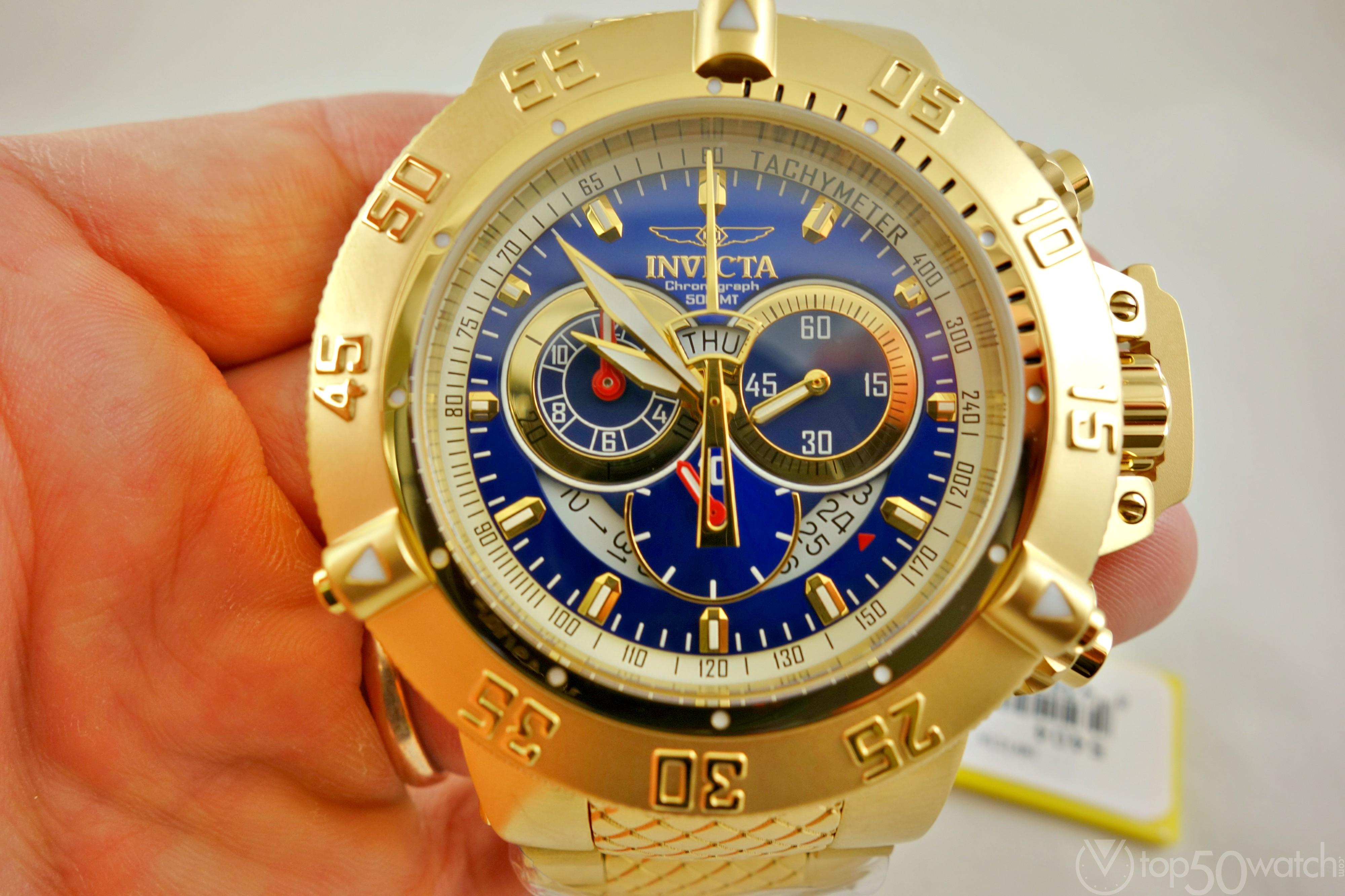 Invicta 5404 Subaqua Noma III Chronograph Gold Watch