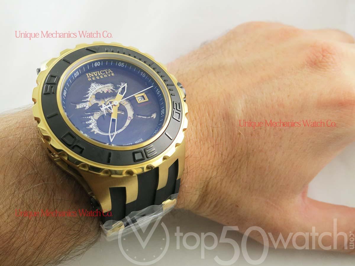 Invicta Subaqua DRAGON Gold Plated Polyurethane Watch