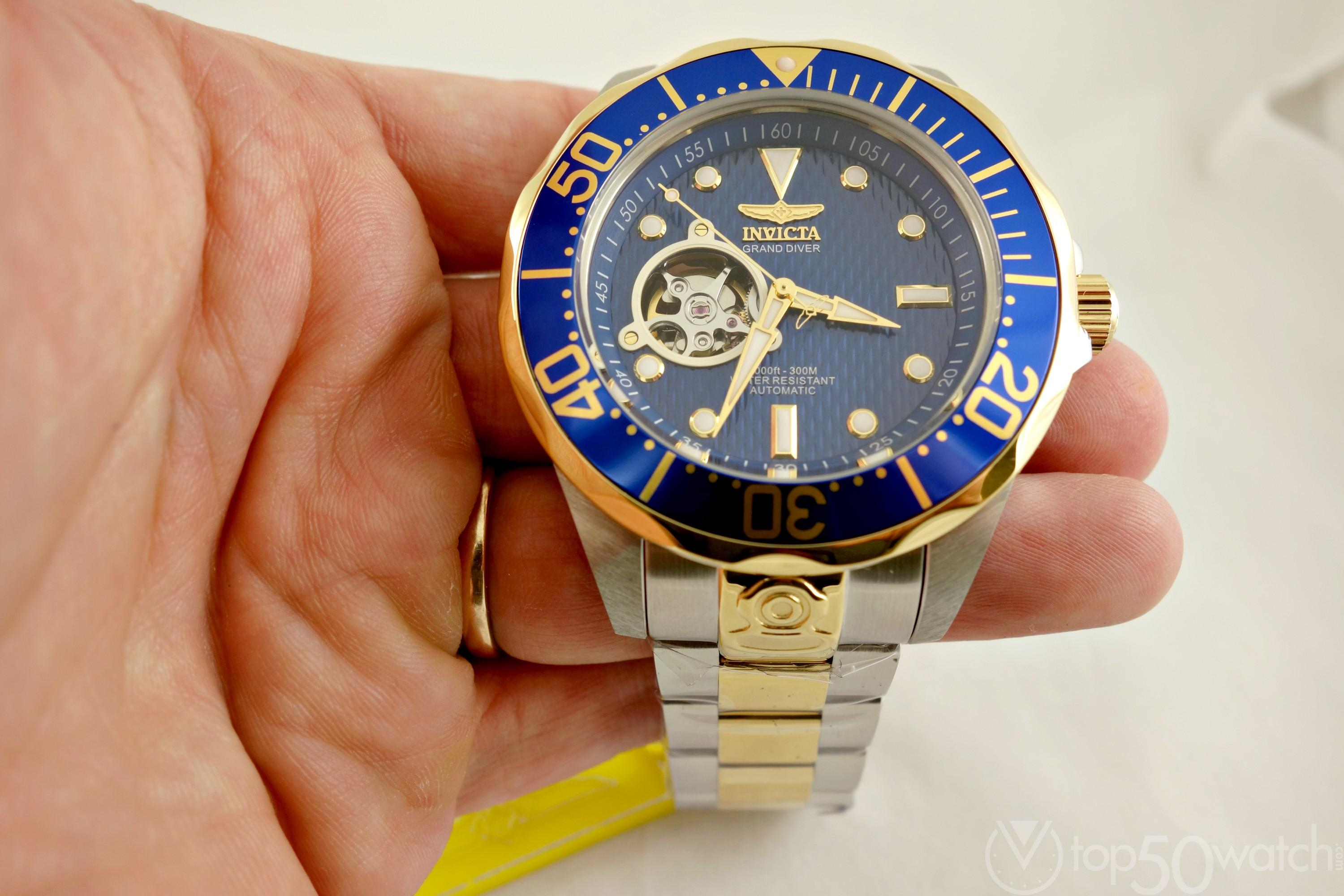 Invicta Pro Diver Open Heart Stainless Steel Two-Tone Watch