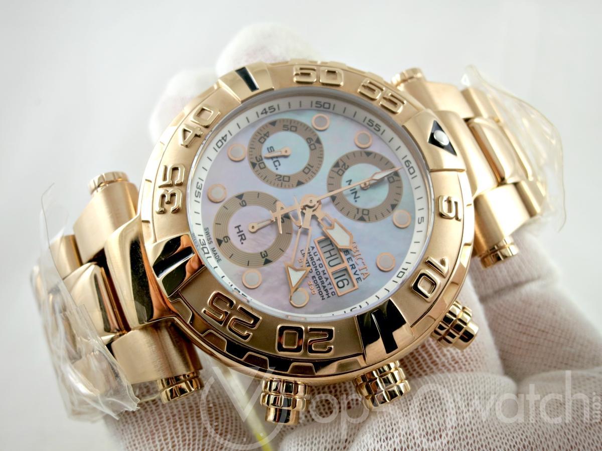 Invicta Subaqua Noma Valjoux 7750 Rose Gold Men's Watch