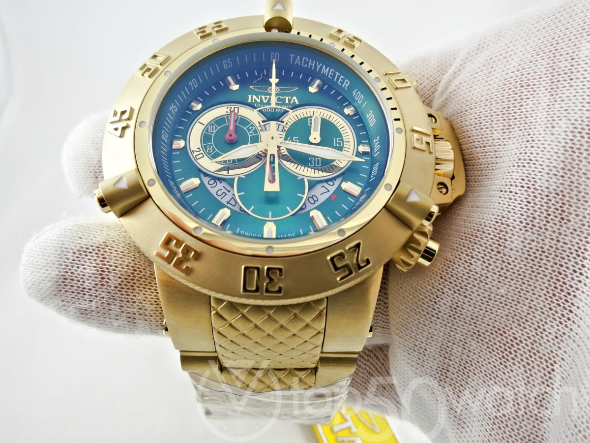 Invicta Subaqua Noma III Gold Plated Steel Chronograph Watch